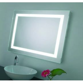 Espejo rectangular con iluminacion 90 cms alto