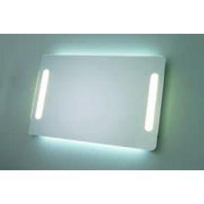 Espejo rectangular redondeado Alto 65 cms con iluminación Frontal y ambiente