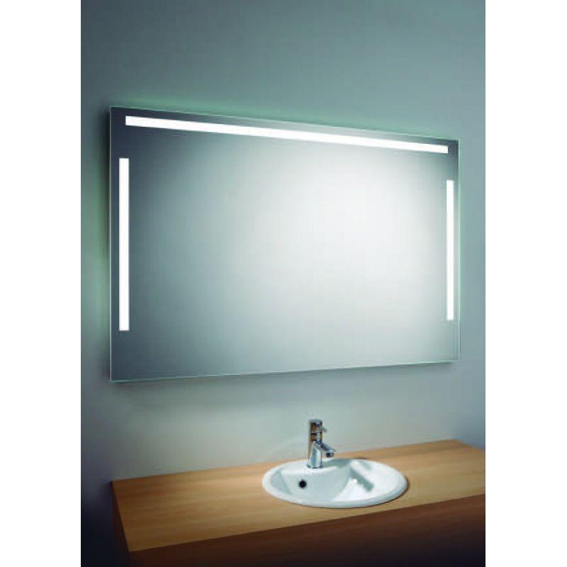 Espejo con luz vertical y horizontal alto 80 cms muebles for Espejos para banos con luz incorporada