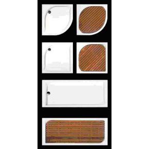 Tarima de Iroko para Plato Visual angular