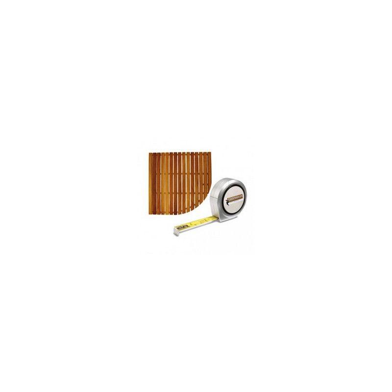 Tarima de iroko para plato visual angular muebles de ba o for Tarima para plato ducha